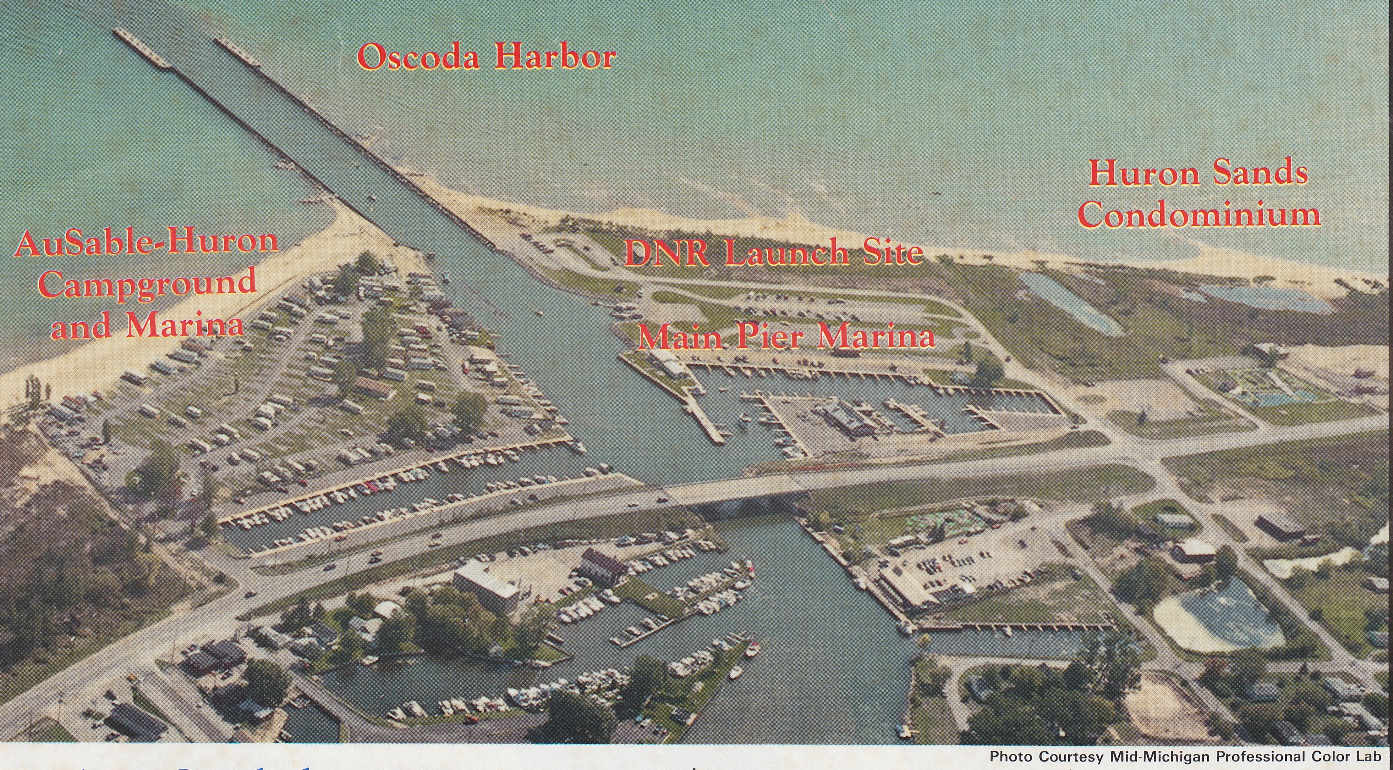 Arial of Oscoda Harbor Area